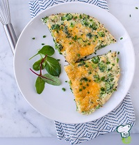 broccoli cheese omelette