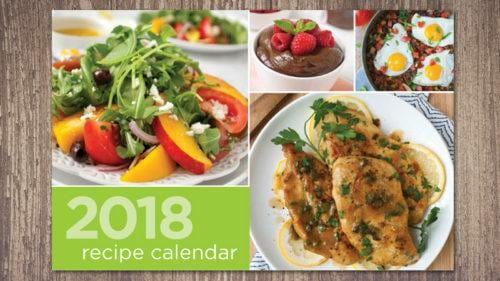 Custom 2018 Recipe Calendar