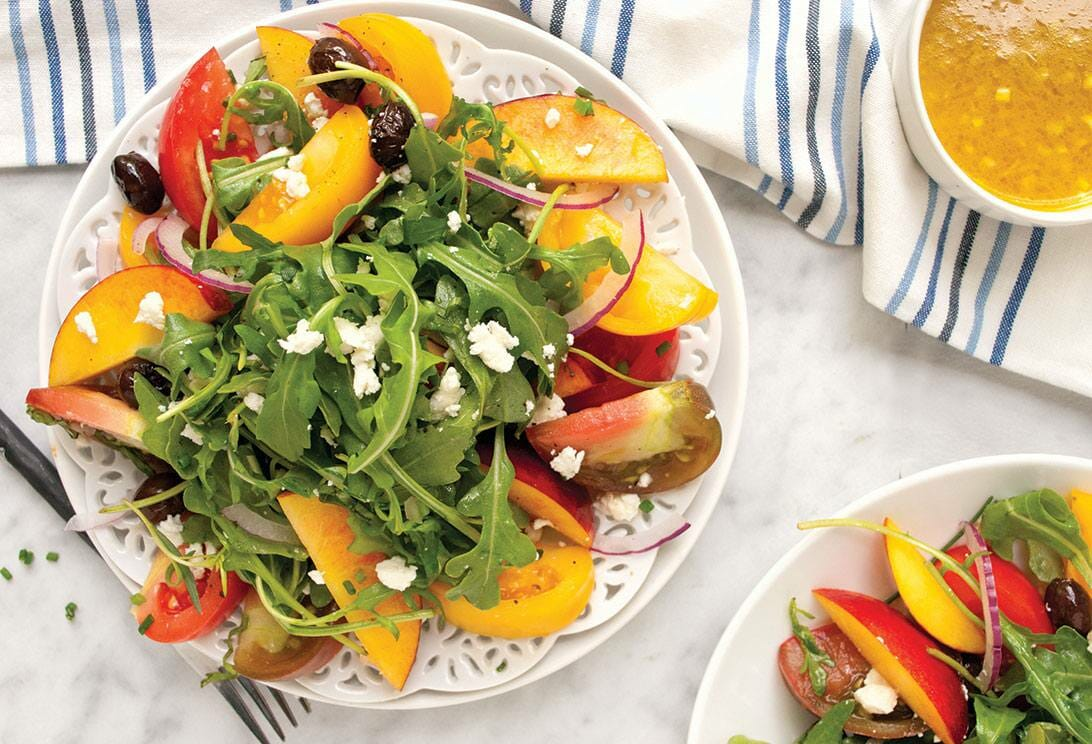 Healthy Recipes - Peach Tomato Salad