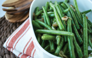 Healthy Recipe Green Beans with Shallots