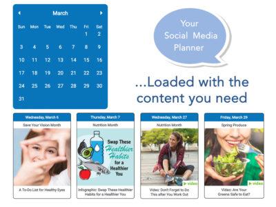 nutrition social media content