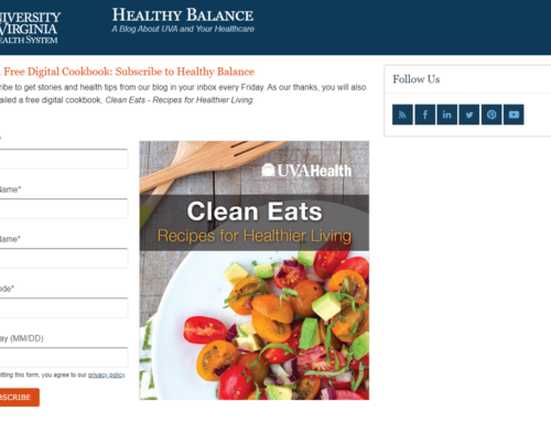 This healthy cookbook delivered 2,000 more hospital blog subscribers