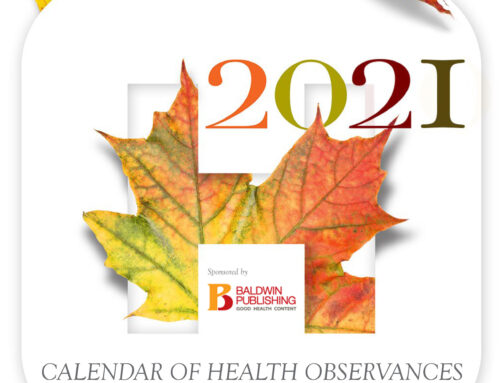 Do you need a calendar of ALL the important health days in 2021?