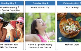 May 2021 Health Observance Calendar