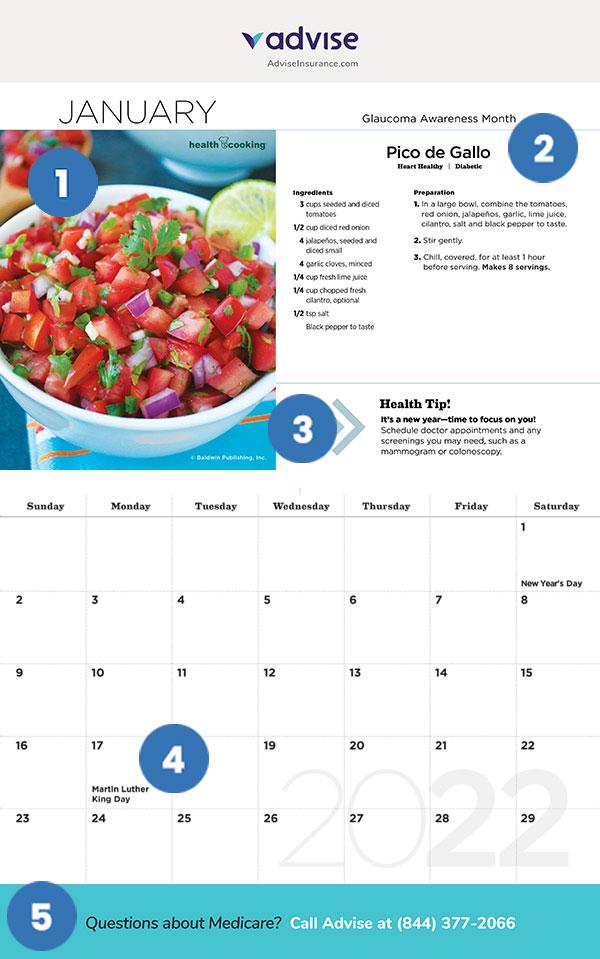 Promotional Calendar Features