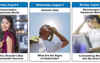 August 2021 Health Observance Calendar