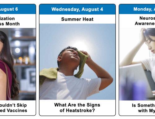 Your August 2021 Health Observance Calendar