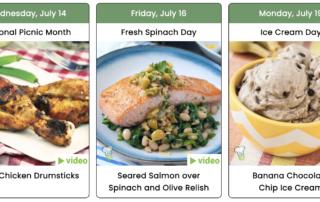Healthy Recipes Social Media Planner
