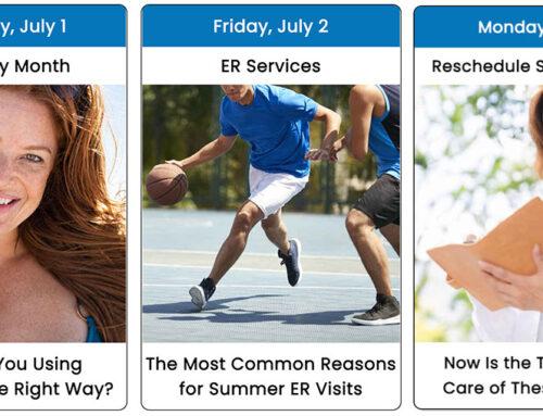 Your July 2021 Health Observance Calendar