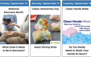 September 2021 Health Observance Calendar