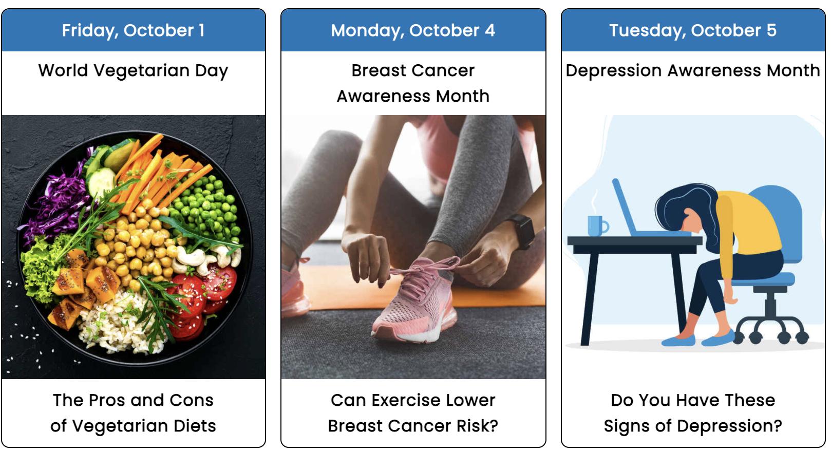 October 2021 Health Observance Calendar