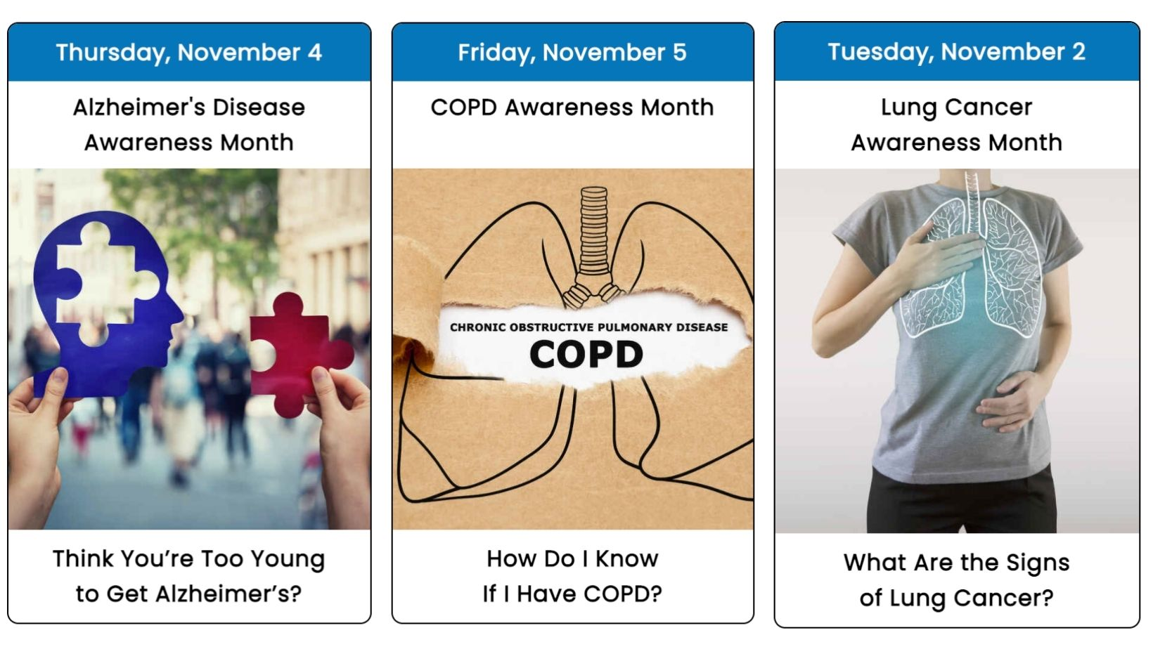 November 2021 Health Observance Calendar